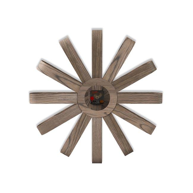 Ribbon Wall Clock - Walnut - 3
