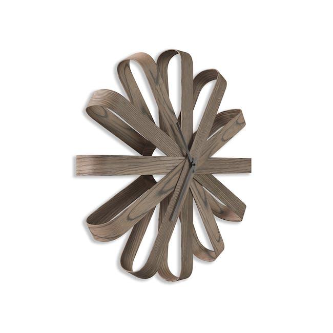 Ribbon Wall Clock - Walnut - 1