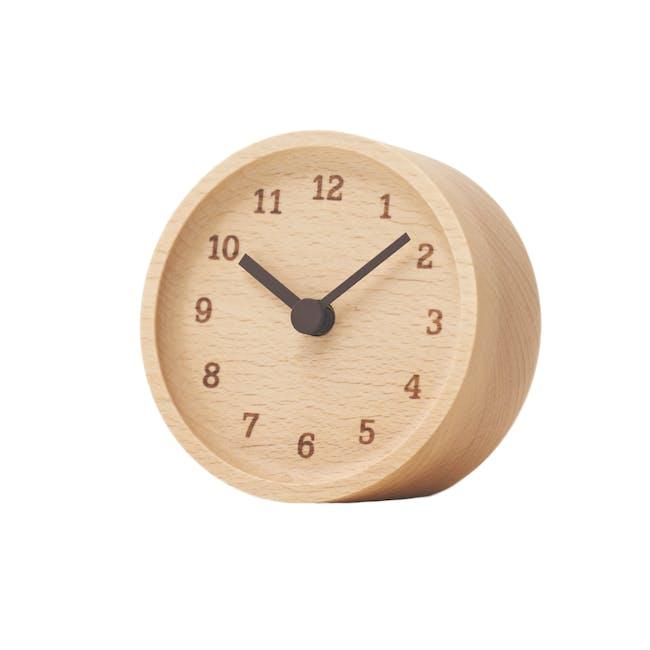 MUKU Table Clock - Beech - 0