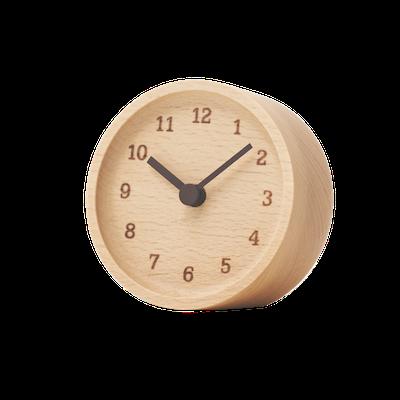 MUKU Table Clock - Beech - Image 1