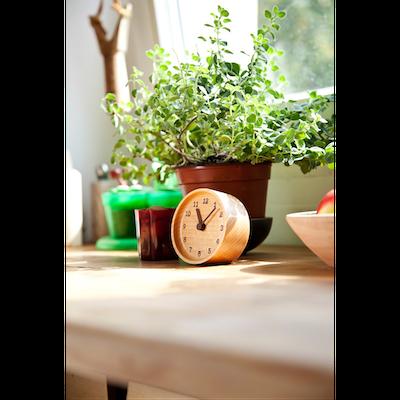 MUKU Table Clock - Beech - Image 2