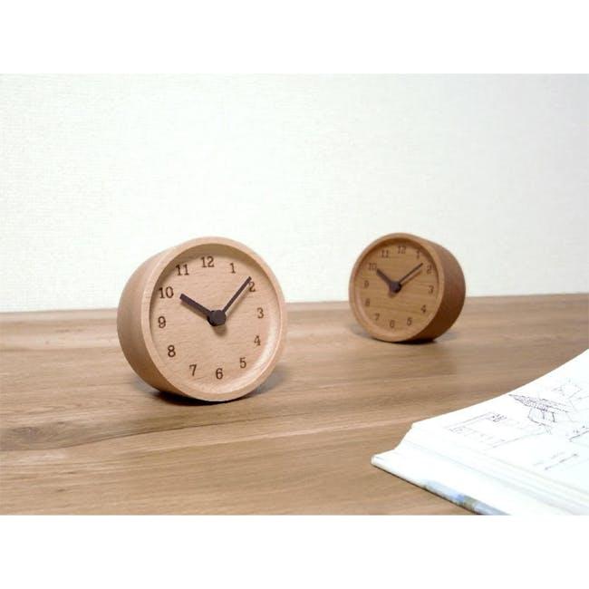 MUKU Table Clock - Beech - 2