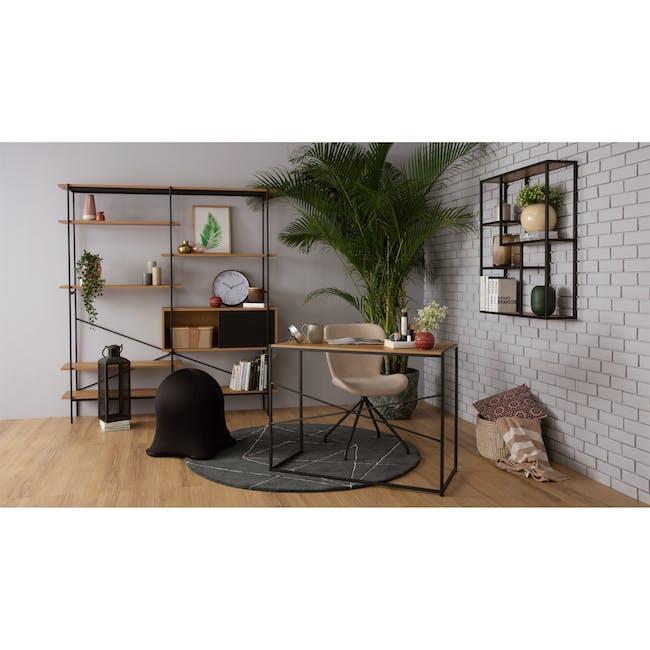 Gryta Dining Chair - Matt Black, Sand - 1