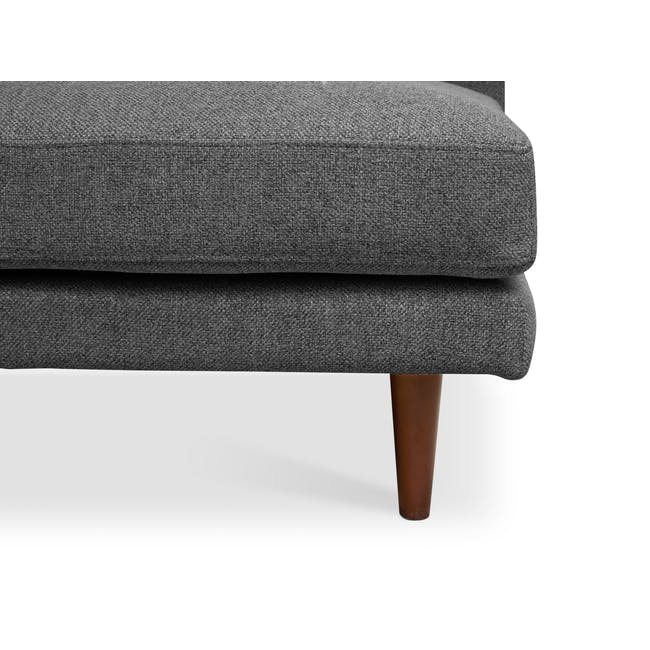 Declan L-Shaped Sofa - Walnut, Storm Grey - 7