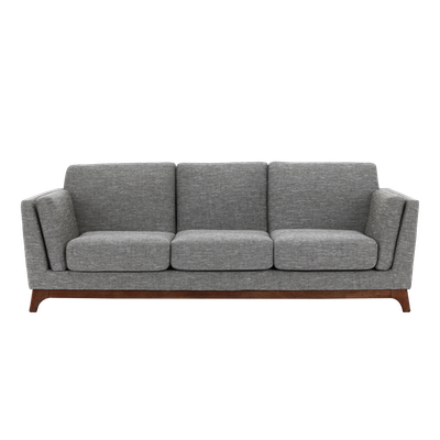 (As-is) Elijah 3 Seater Sofa - Cocoa, Pebble - 1 - Image 1