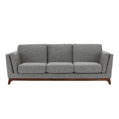 Elijah 3 Seater Sofa Pebble Fabric Malmo Hipvan