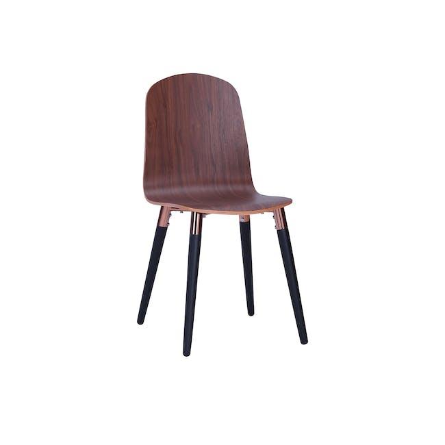 Jazz Dining Chair - Matt Black, Walnut - 0