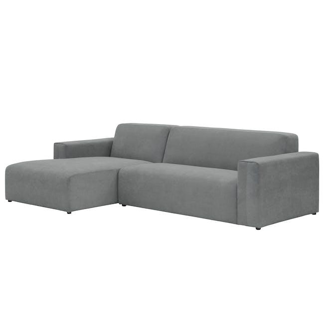 Adam L-Shaped Sofa - Stone - 2