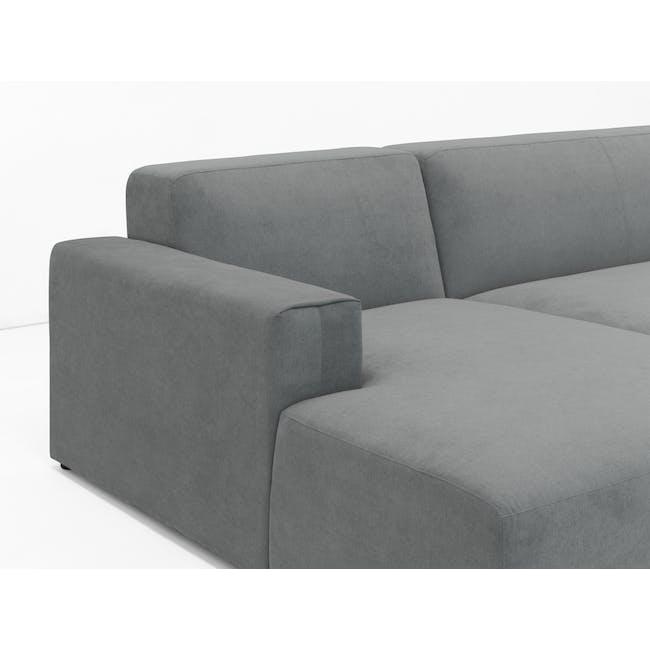 Adam L-Shaped Sofa - Stone - 5