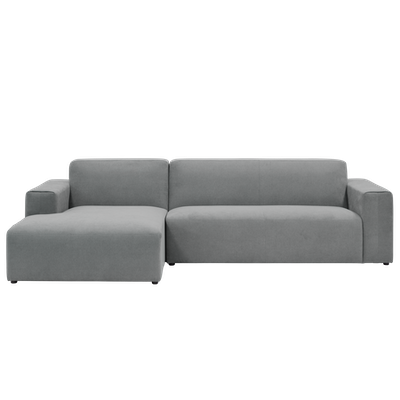 Adam L Shape Sofa - Grey - Image 1
