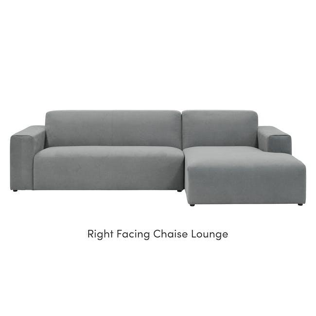 Adam L-Shaped Sofa - Stone - 7