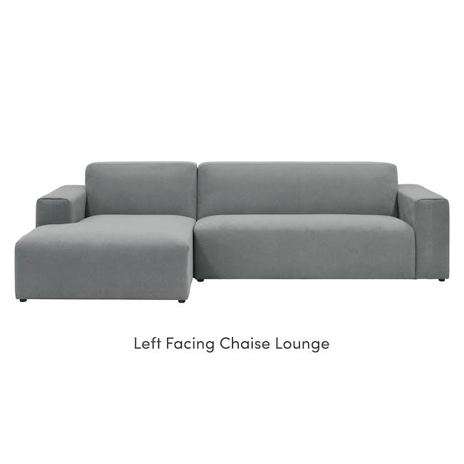 Adam L-Shaped Sofa - Stone - 6