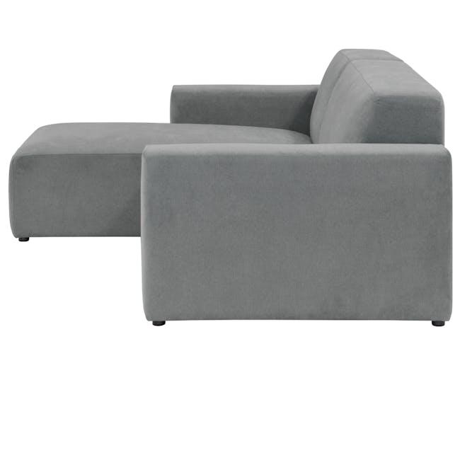 Adam L-Shaped Sofa - Stone - 3