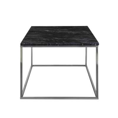 Amelia Marble Side Table - Dark Grey, Chrome - Image 1