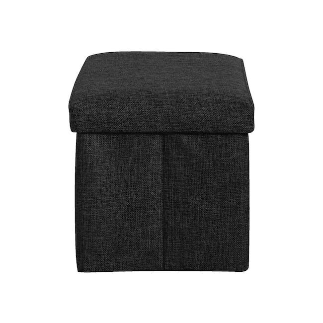 Domo Foldable Storage Bench Ottoman - Black - 2