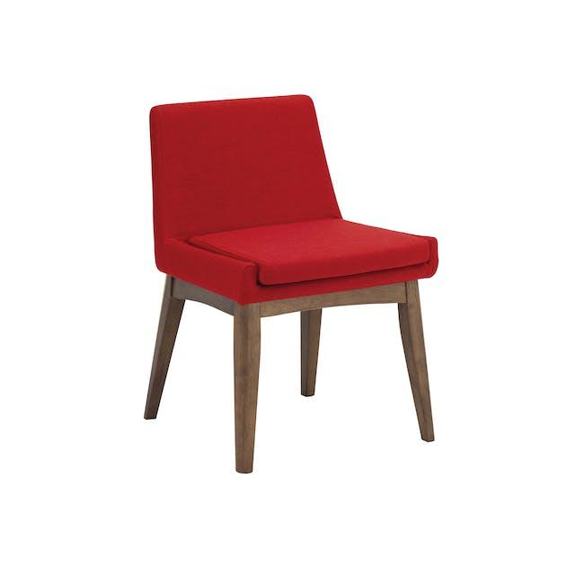 Fabian Dining Chair - Cocoa, Crimson - 0