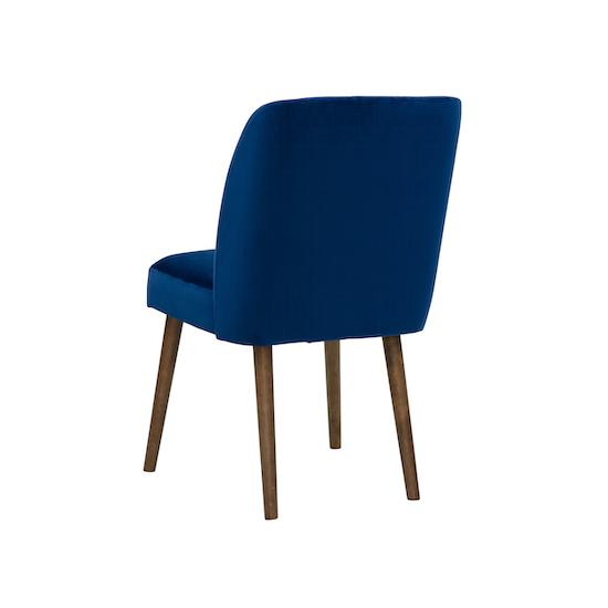 SourceByNet - Russell Dining Chair - Cocoa, Royal Blue (Velvet)