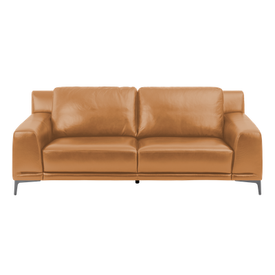 Dominic 3 Seater Sofa - Mustard (Aniline Leather) - Image 2