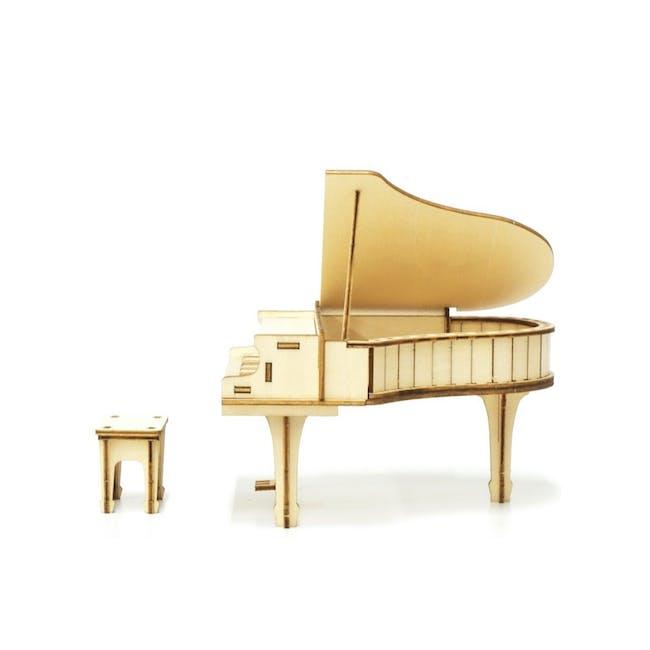 Jigzle Lifestyle Piano Accessory Case 3D Wooden Figurine - 1