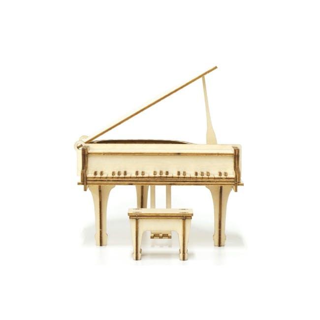Jigzle Lifestyle Piano Accessory Case 3D Wooden Figurine - 0