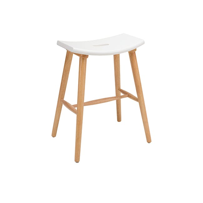 Holly Counter Stool - Natural, White - 0