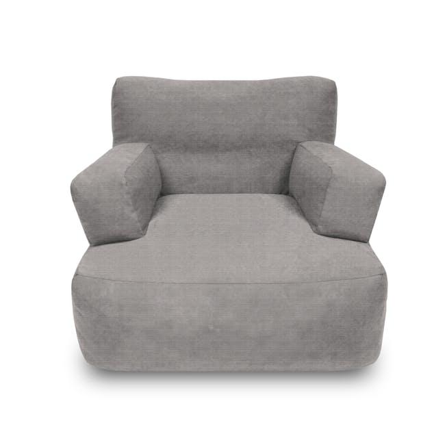 Flabber Bean Bag Sofa - Light Grey - 0