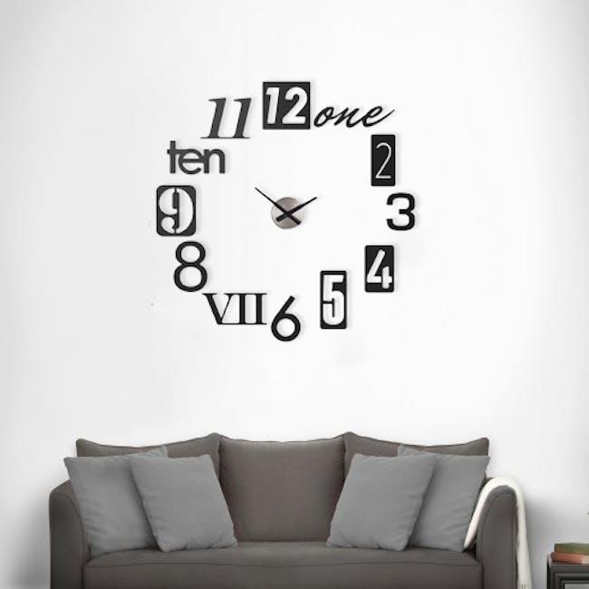 Numbra Wall Clock - Black - 1