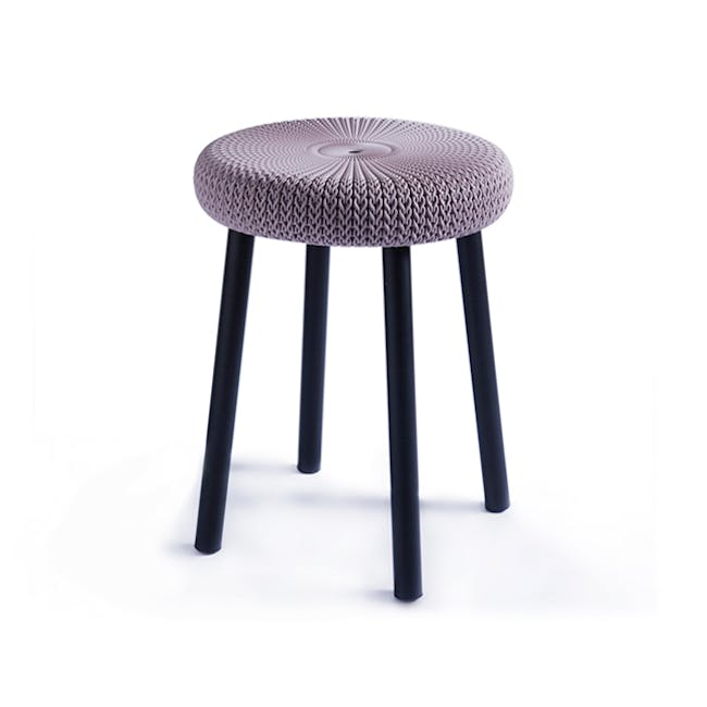 Knit Cozy Outdoor Stool - Violet - 3