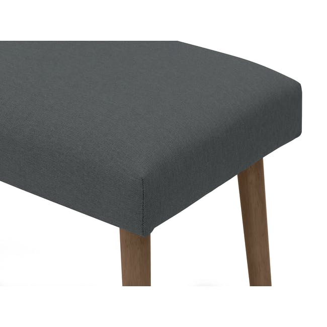 Ralph Dining Table 1.2m in Cocoa with 2 Miranda Benches in Onyx Grey - 5