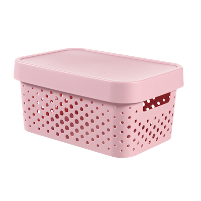 Inifinity Box Dots + Lid - Pink - Image 1