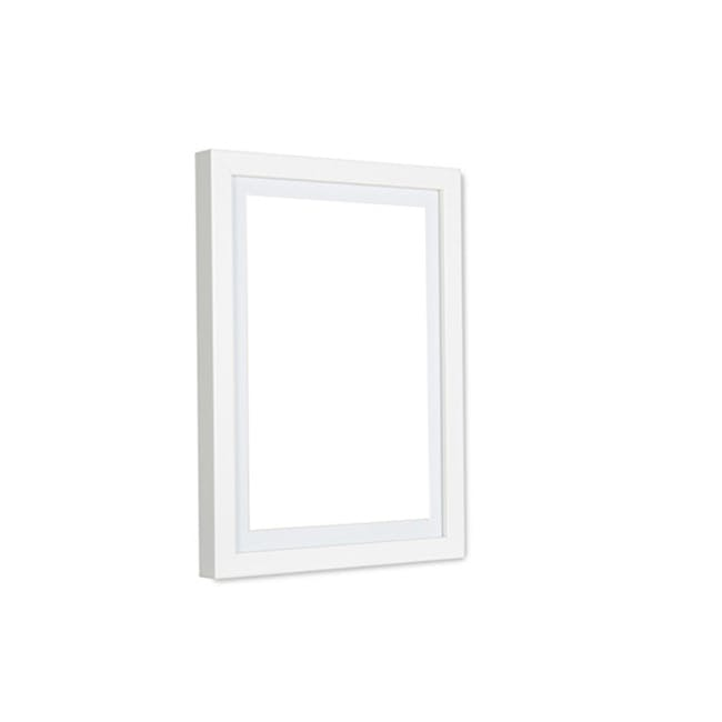 A4 Size Wooden Frame - White - 0