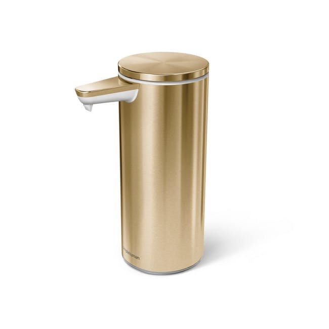 simplehuman Sensor 9oz Soap Pump Rechargeable - Brass - 0