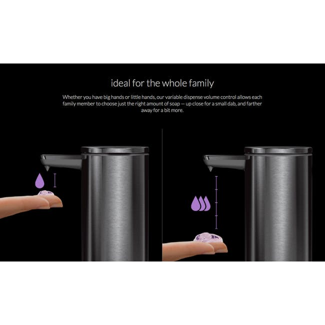 simplehuman Sensor 9oz Soap Pump Rechargeable - Brass - 4