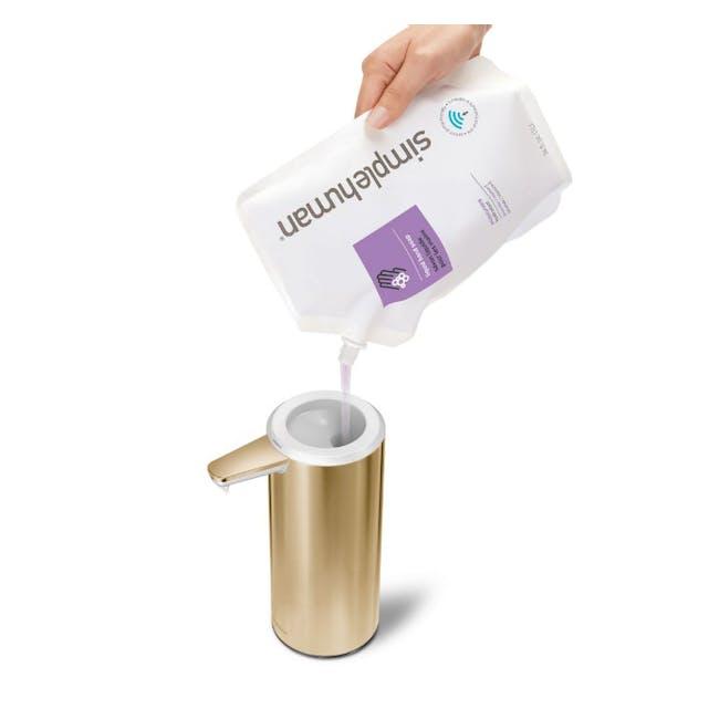 simplehuman Sensor 9oz Soap Pump Rechargeable - Brass - 2