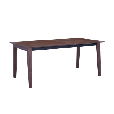 Kiros Extendable Dining Table 1.8 - Walnut, Black - Image 1