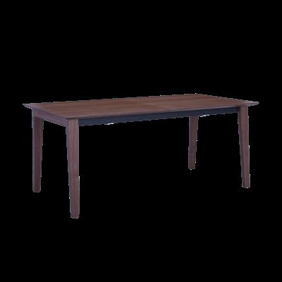 Kiros Extendable Dining Table 1.8m - Walnut, Black - Image 1