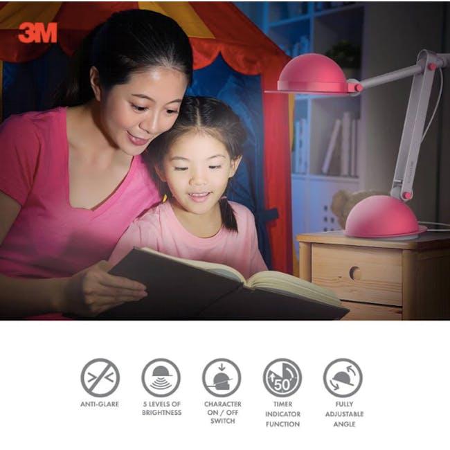 3M Polarizing Task Light with Timer LED K1710 - Pink - 2