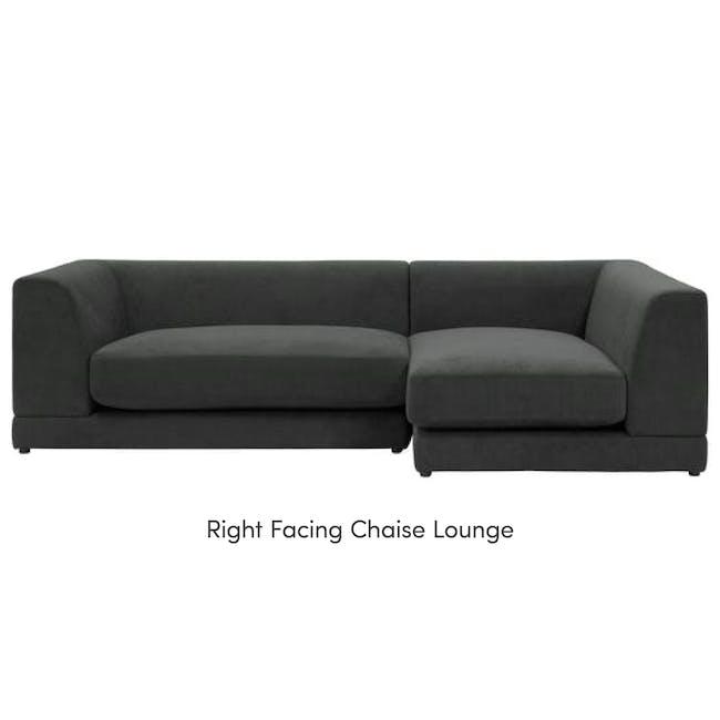 Abby L-Shaped Lounge Sofa - Granite - 11