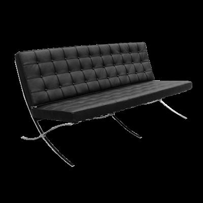 Barcelona 3 Seater Sofa - Italian Leather - Image 1