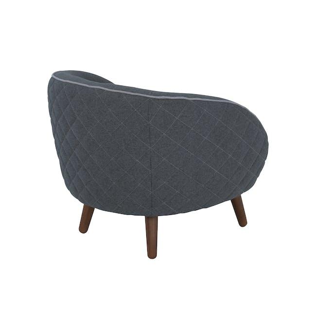 Braton Lounge Chair - Battleship Grey (Fabric) - 2