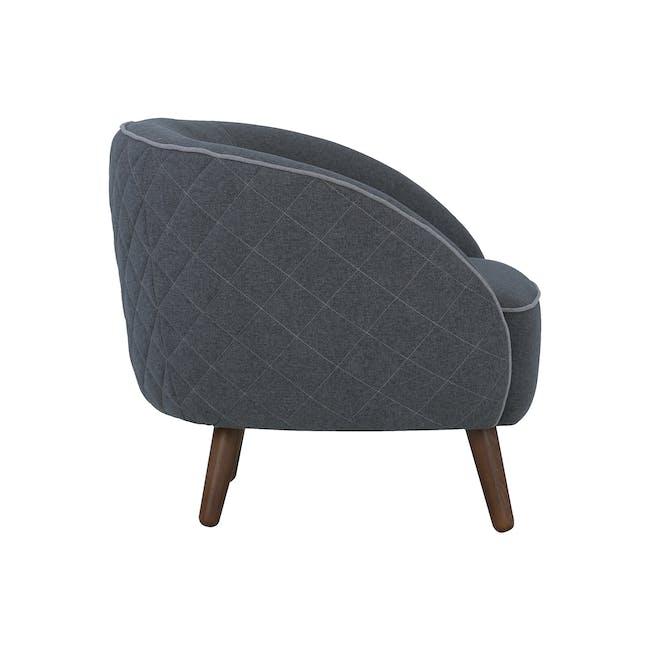 Braton Lounge Chair - Battleship Grey (Fabric) - 3