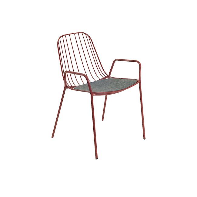 Nerissa Outdoor Armchair - Matt Red - 0