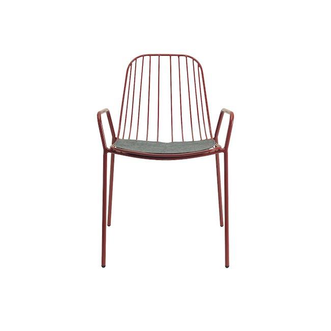 Nerissa Outdoor Armchair - Matt Red - 3