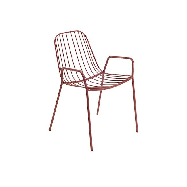 Nerissa Outdoor Armchair - Matt Red - 1