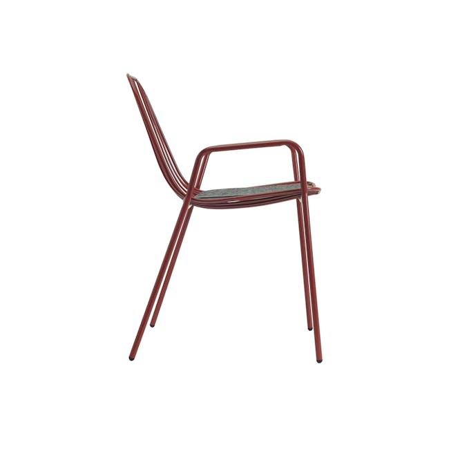 Nerissa Outdoor Armchair - Matt Red - 5