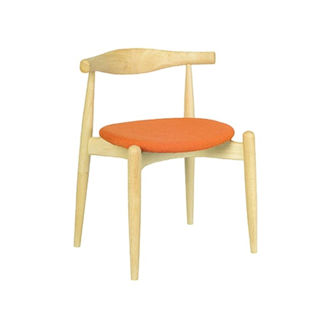 (As-is) Bouvier Dining Chair - Oak, Carrot - 1 - 0