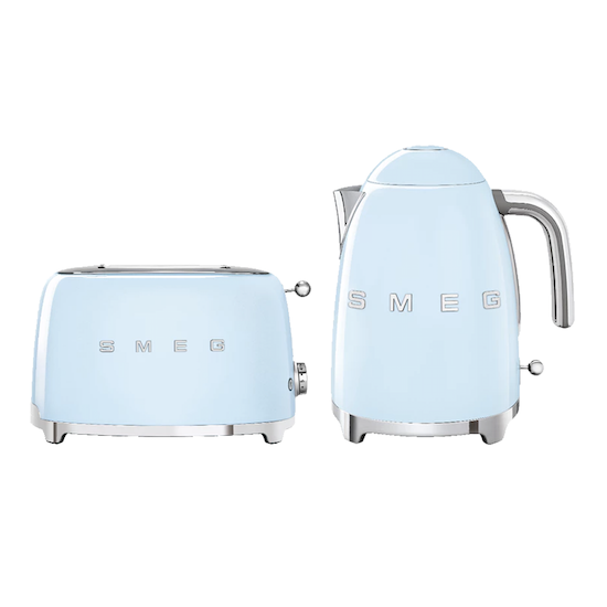 HipVan Bundles - Smeg Pastel Blue Breakfast Set - Toaster and Kettle