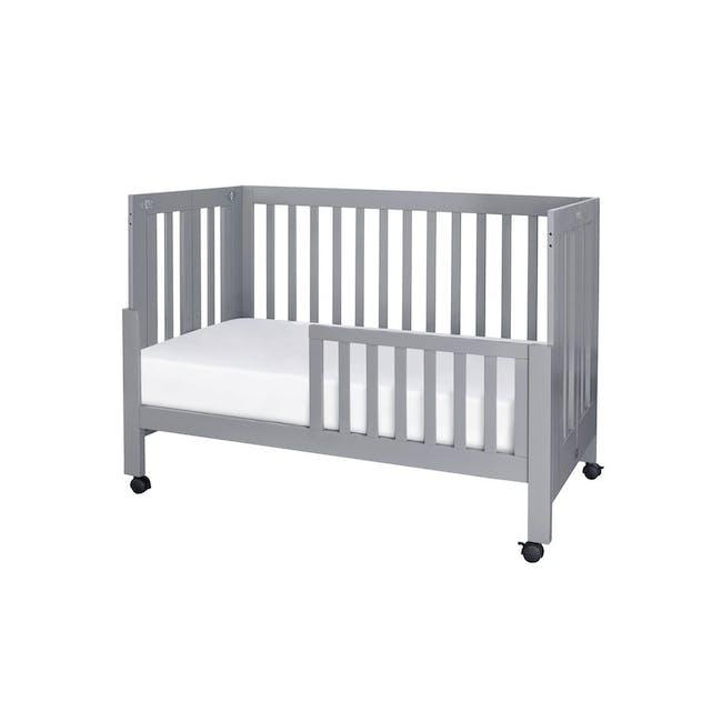 Babyletto Maki Foldable 2-in-1 Folding Crib - Grey - 3