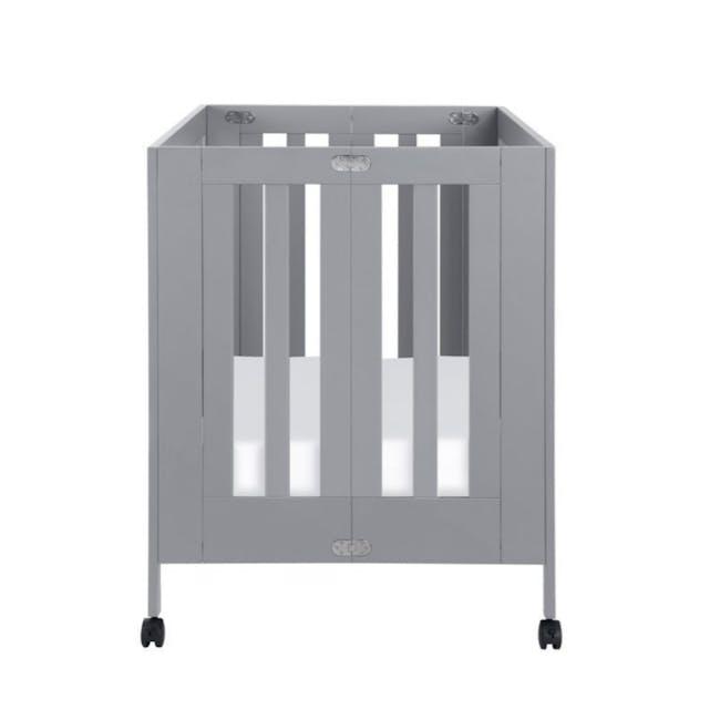 Babyletto Maki Foldable 2-in-1 Folding Crib - Grey - 4