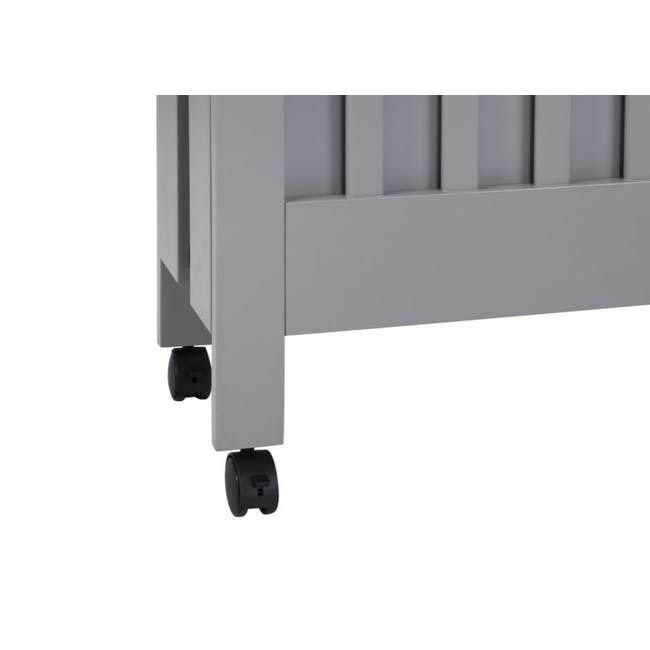 Babyletto Maki Foldable 2-in-1 Folding Crib - Grey - 8